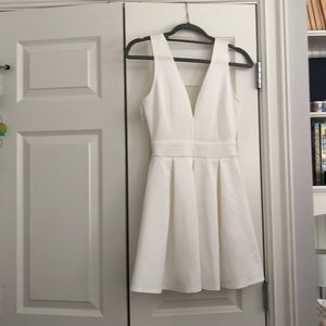White cocktail dress never been worn